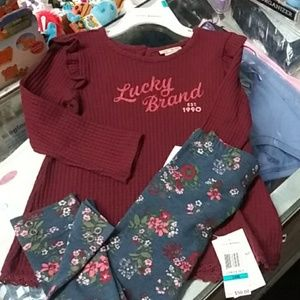 Nwt LUCKY BRAND 2 pc infant set.